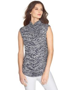 White House | Black Market Sleeveless Marled Pullover  #whbm