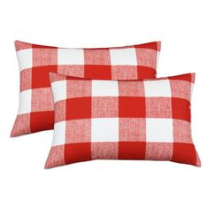 Checked pillows pack a fun punch of pattern. | $65