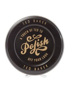 """Black Ted Baker """"To Polish Off You Look"""" Cufflinks on http://coolcufflinks.co.uk"""