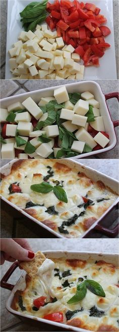 Hot Caprese Dip Recipe…I'm in! I like it cold & it is even better hot! Hot Caprese Dip Recipe…I'm in! I like it cold & it is even better hot! Yummy Appetizers, Appetizers For Party, Appetizer Recipes, Party Dips, Appetizer Ideas, Fingerfood Recipes, Party Nibbles, Chef Party, New Recipes