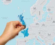 Mapka zdrapka – Europa / Scratch map - Europe