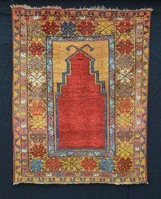 Prayer Rug, Possibly Aksaray Region, Central Anatolia This very rare and beautiful little prayer rug was possibly made in the Aksaray area of central Anatolia and could date to the late 18th/early 19th century.