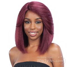 Model Model Synthetic Hair Lace Deep Invisible L Part Lace Front Wig - DREAM [10855]