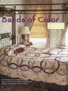 Bands Of Color Quilt Pattern Pieced/Applique CH