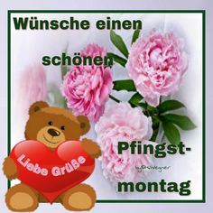 Klicke hier um dein GB Bild in voller Gr. Pentecost, Good Vibes Only, Special Day, Teddy Bear, Party, Madness, Flowers, Happy Easter, Cat Birthday