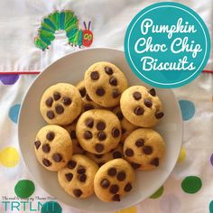 Pumpkin Choc Chip Biscuits made in your thermomix or the traditional way. Chocolate Chip Biscuits, Pumpkin Chocolate Chips, Lunch Box Recipes, Snack Recipes, Snacks, Lunchbox Ideas, Bellini Recipe, Sugar Free Sweets, Pumpkin Cookies