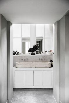 James van der Velden www.bricksamsterdam.com Minimalist Scandinavian, Dream Bathrooms, Double Vanity, New Homes, Interiors, Dreams, Decoration Home, Decor, Double Sink Vanity