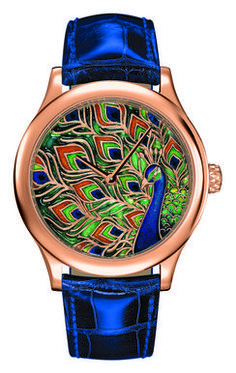 Midnight peacock watch from the Van Cleef & Arpels collection.