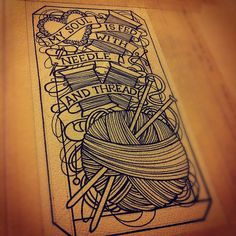 needlework   Tumblr * add a crochet hook and it would be an awesome tattoo