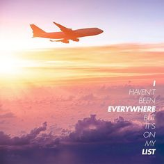 I haven't been everywhere but it's on my list #travelquotes #quote #inspiration #inspirational #takemethere #airport #airplane #explore #discover #travel #seetheworld #vacation #getaway #trip #holiday #beach #itravel2000