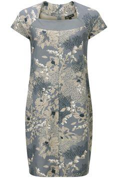 Zomerse jurk met all-over print Grijsblauw - Look 36 - Lookbook | Juli | Didi.nl