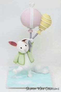Bunny and Balloons Topper