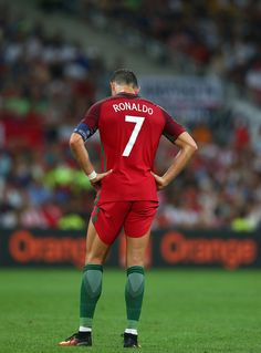 Cristiano Ronaldo of Portugal looks on dejected during the UEFA Euro 2016 quarter final match between Poland and Portugal at Stade Velodrome on June. Cristiano Ronaldo Portugal, Cristiano Ronaldo Cr7, Cristino Ronaldo, Ronaldo Juventus, Real Madrid, Portugal National Football Team, We Are The Champions, Soccer Stars, Good Looking Men