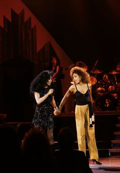 "Diana Ross & Whitney Houston. ""The Boss"" & ""The Voice""."