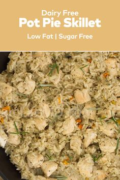 If you are looking for a great homemade chicken recipe to surprise loved ones, the Pot Pie Skillet Meal will be a great dinner recipes meals option for you. Great Dinner Recipes, Skillet Meals, Pot Pie, Fried Rice, Family Meals, Dairy Free, Chicken Recipes, Good Food, Tasty