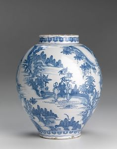 Holland, Delft (manufacturer),, Jar 1660–80