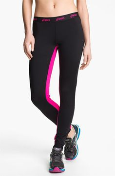 ASICS® 'Bryn' Running Tights | Nordstrom. Love the pink in the inner thigh.
