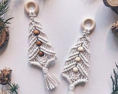 Macrame christmas ornament | Etsy