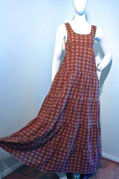 Vtg 1970s David Silverman maxi dress // by VicAndBertieVintage
