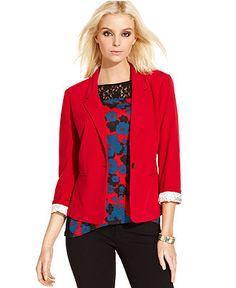 Kensie Jacket, Three-Quarter Blazer - Jackets & Blazers - Women - Macy's