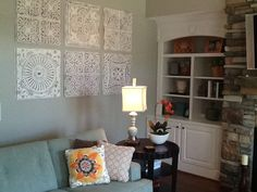 DIY Ceiling Tile Ideas | Found on media-cache-ak3.pinimg.com