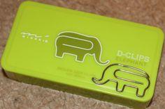 Elephant-shaped Paper Clips...rawr!