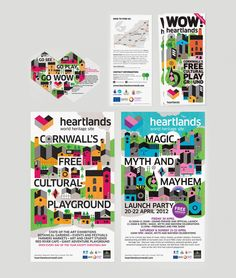 Heartlands identity and collaterals designed by A-Side.