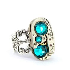 Aqua Blue Steampunk Ring 5.jpg