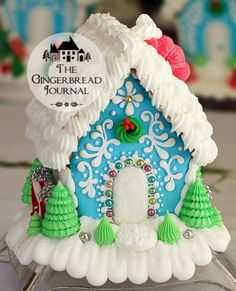 Gingerbread House C www.gingerbreadjournal.com; free pattern, recipe, and tutorial
