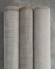 CHILEWICH CONTRACT COLLECTION 2015-2016 | MARBLE BASKETWEAVE, WHITE/SILVER IKAT AND MIST BOUCLE