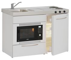 The Elfin Kitchens M-120 Standard kitchen with 28 litre combi oven & grill and hotplates | Elfin Kitchens