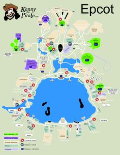 Kennythepirate Character Locator Epcot Map Png Disney World