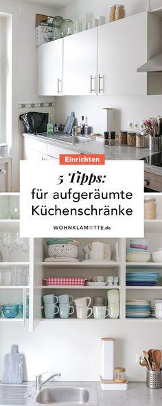 eddd12102337fd 5 Ideen für einen aufgeräumten Küchenschrank
