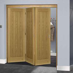 Thrufold Ely Oak 3+0 Folding Door - Unfinished - Lifestyle Image
