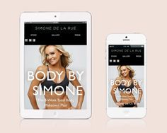 Personal Website for dance-cardio trainer and author Simone De La Rue. Responsive web design and development.