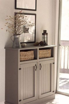 Entryway With Storage Cabinets