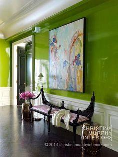 Walls ~Portfolio > Carnegie Hill PreWar | Christina Murphy Interiors  Wonderful green