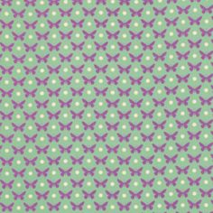 Heather Bailey - Lottie Da - Butterfly Dot in Turquoise--aqua as an accent? Paper Design, Fabric Design, Liberty, Heather Bailey, Kawaii Illustration, Gorgeous Fabrics, Fabric Swatches, Crochet Crafts, Backgrounds