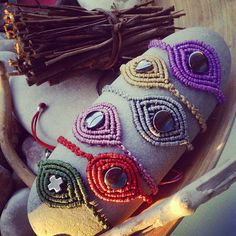 #ShareIG #New #macrame #hematite #gemstone #Fall #in #love #2014 #2015 Coming soon....