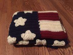A personal favorite from my Etsy shop https://www.etsy.com/listing/221126338/american-flag-blanketafghan