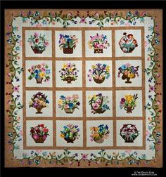 The name of this quilt is Lillian's Legacy, my mothers name was Lillian and she loved her flowers, I would love to make this quilt in her memory.  She has been  gone now for 15 months and I miss her every day.  She was a wonderful, gracious, godly woman who taught us our need for a Savior and to enjoy His creation.