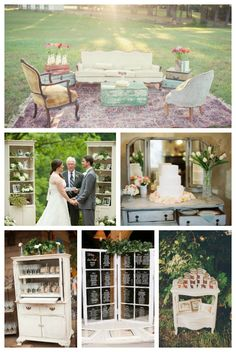 Using vintage furniture is a big trend in weddings right now and can create such a unique and beautiful space. Check out Miss Country Music Brides post on Its a Brides Life for some great inspiration and tips Wedding Lounge, Wedding Vows, Rustic Wedding, Our Wedding, Dream Wedding, Wedding Shit, Wedding Stuff, Wedding Trends, Wedding Styles