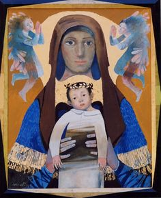 Arcabas  Madonna3 Religious Images, Religious Icons, Religious Art, Images Of Mary, Mama Mary, Jesus Art, Religious Paintings, Madonna And Child, Mother And Child