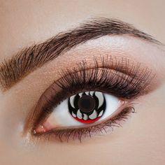 Halloween Kontaktlinsen, Tierlinsen, Farb-Vampirlinsen – Bild 2