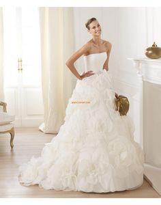 Prinsess Ärmlös Dragkedja Bröllopsklänningar 2014