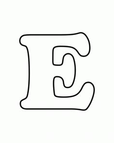 Uppercase E Alphabet Coloring Pages Free Printable - Coloring Ideas Alphabet Coloring Pages, Free Printable Coloring Pages, Free Printables, Coloring Sheets, Letter Templates Free, Applique Templates, Printable Letters Free, Alphabet Templates, Number Templates