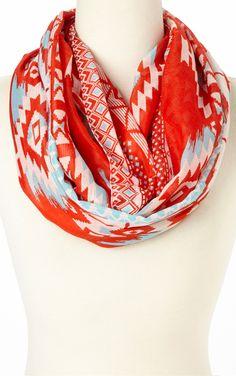 Tribal infinity scarf