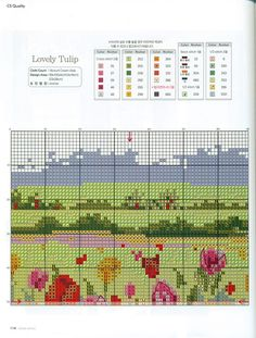Gallery.ru / Фото #2 - 5 - KarapyziKM Embroidery Stitches, Embroidery Patterns, Cross Stitch Landscape, Cross Stitch Flowers, How To Make, Sunflowers, Tulips, Nature, Cards