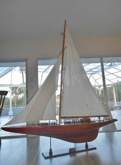 Elegant Yacht Endeavour Model Sailboat | by oldsailro