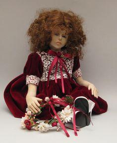 """Zoe, bambola OOAK. Ho descritto la sua modellazione nel libro """"I segreti per realizzare bambole OOAK, corso avanzato"""". Nel libro è in compagnia di Matilda e Rosalba."""